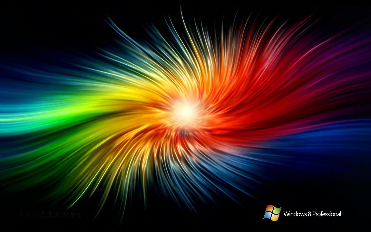 Hình ảnh Desktop Xoáy Tia Sáng Nhiều Màu Sắc Cho Windows 8