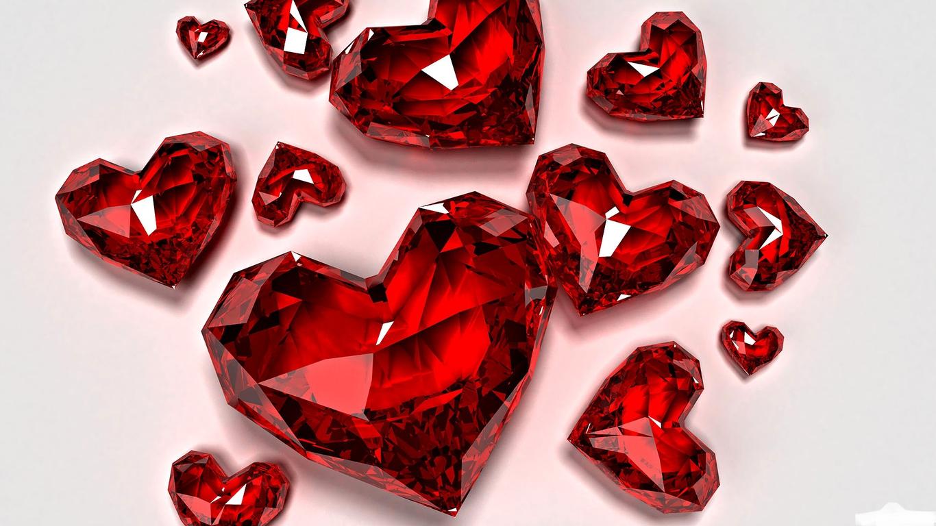 Hình ảnh Những Trái Tim Màu đỏ Như Ngọc
